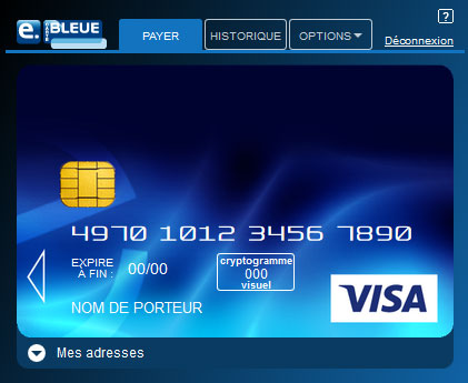 numero de carte bancaire valide gratuit e Carte Bleue | Visa