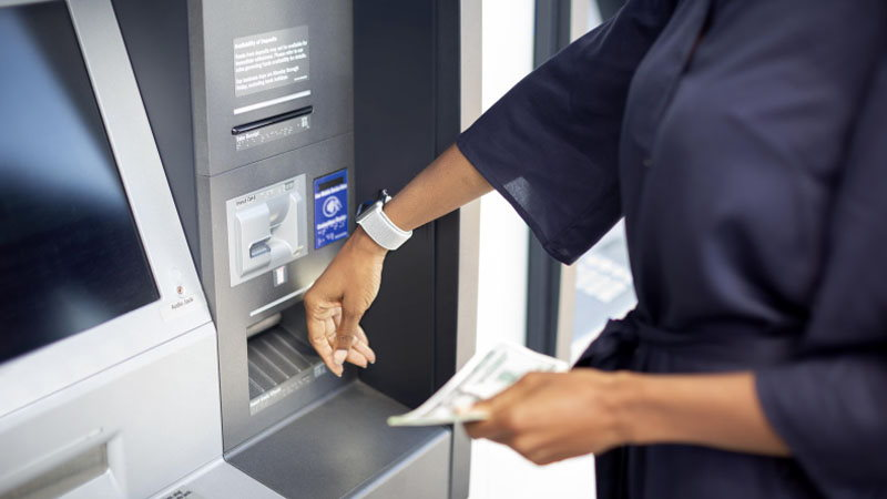 Using wearable technology at ATM
